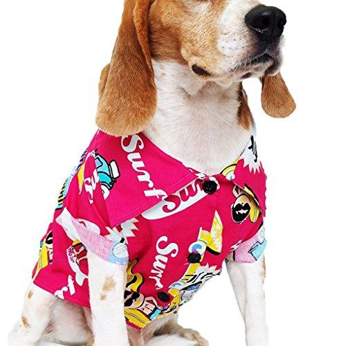 Dog Shirts Summer Camp, Dog Shirts, Dog Clothes, Small, Medium, Large, Colorful Pet Shirts, Shirt Pet Clothing, Puppy Clothes, Summer Dog Apparel, Hawaiian styles, Colorful Flowers Hawaiian shirt 1