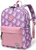 Backpack for Little Girls,Vaschy Preschool Backpacks for kindergarten with Chest Strap Pink Unicorn