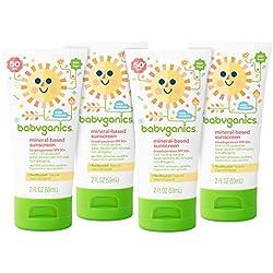 Babyganics Baby Sunscreen Lotion, SPF 50, 2oz Tube (Pack of 4)