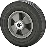 Rocky Mountain Goods Solid Rubber Hand Truck Wheel 8' - 5/8' axle Size - Flat Free Solid Rubber Replacement tire for Hand Truck, cart, Power Washer, Dolly, Compressor - 550 lbs. (8')