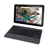 2019 RCA Viking Pro 10.1' Touchscreen 2-in-1 Tablet Laptop, Quad-Core Processor, 1GB RAM, 32GB SSD, WiFi, HDMI, Detachable Keyboard, Android 5.0 OS, Black