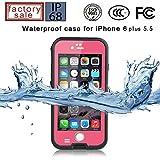 Redpepper-Waterproof Case for iPhone 6 Plus 5.5 inch Screen SnowPrrof ShockProof DirtProof Case Cover (Pink)