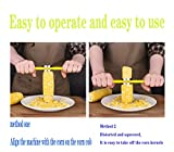 Corn Slicer Peeler Thresher Stainless Steel Corn on The Cobb Holders Corn Shucker Kitchen Cooking Tools,Easy to Operate and Clean, Reusable and Durable