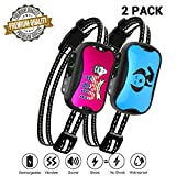 petamer 2 Pack Dog Bark Collar Rechargeable Shock/No Shock/Vibrate E Collar for Small/Medium/Large