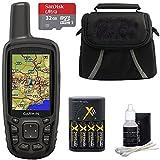 Garmin GPSMAP 64sc Handheld GPS - 1 Year BirdsEye 010-01199-30 w/ 32GB Micro SD Bundle