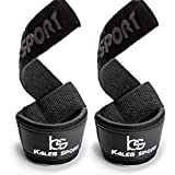 Padded Weight Lifting Wrist Straps - Men & Women - Deadlift, Barbell Deadlifting, Powerlifting Gym Training, Weightlifting Workout, Power Bodybuilding - Exercise Bar Cotton Wraps - Best Hand Hook Grip