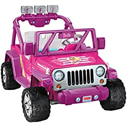 Power Wheels Barbie Deluxe Jeep Wrangler, Barbie Pink