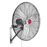 OEM Tools 24' Oscillating Wall Mount Fan, 24 Inch, Black