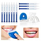 MS.DEAR Dental Equipment Teeth Whitening Gel Kit 44% Peroxide Dental Bleaching System, LED Light Oral Gel Kit Tooth Whitener