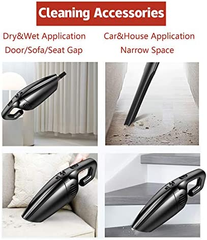 JUSTTOP Portable Car Vacuum Cleaner High Power 120W/7000Pa Corded Handheld Auto Accessories Kit for Detailing and Cleaning Car Interior 17