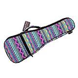 MUSIC FIRST Cotton 21' Soprano Pink Geometric Patterned Ukulele Bag Ukulele Cover Ukulele Case Version 2.0