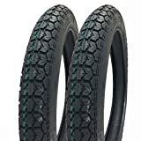 SET OF TWO: 2.75-16 (P44) M/C Tires Front/Rear Motorcycle Dual Sport On/Off Road