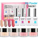 Dip Powder Nail Color Kit of 4 Colored Dipping Manicure Color Set UV/LED Light Free J765