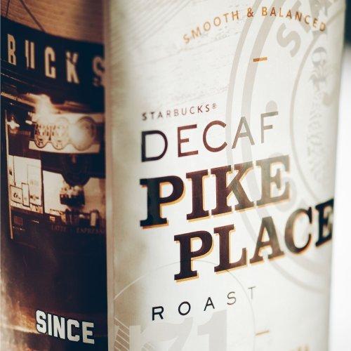 Starbucks Decaf Pike Place Roast Whole Bean Coffee (1lb)