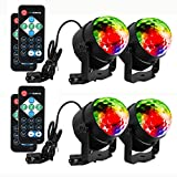 LUNSY Sound Activated Party Lights with Remote Control Dj Lighting, RBG Disco Ball Light, Strobe Lamp 7 Modes Stage Par Light for Home Room Dance Parties Bar Xmas Wedding Show Club