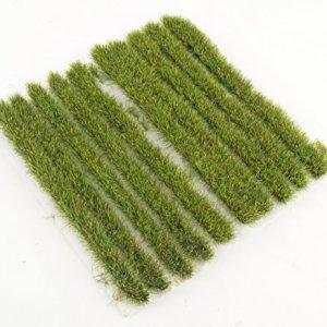WWS 10mm Spring Grass Tufts Strips x 10 Model Railway Diorama Scenery Terrain 51dnoMZYKnL