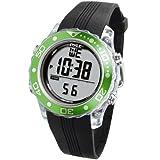 Digital Multifunction Sports Wrist Watch - Waterproof Smart Fit Classic Men Women Water Sport Swimming Fitness Gear Tracker w/ Chronograph, Countdown, Dual Time, Diving Mode - Pyle PSNKW30GN (Green)