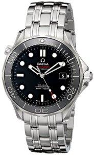 Omega Men's 212.30.41.20.01.003 Seamaster Black Dial Watch
