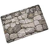 Weiliru Children Creative Fake Tile Bricks Mat Bedroom Kitchen Floor Pad Non-Slip Bath Rug Mat Door Carpet