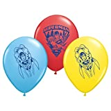 Pioneer Party Group Officially Licensed DC Comics 12-Inch Latex Balloons, 6-Count, Superman Assorted Colors