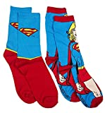 Womens DC Comics Supergirl 2pk Socks