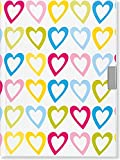 Hearts Locking Journal (Notebook, Diary) (2nd Gen Lock)