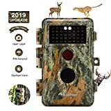 16MP 1080P Time Lapse Night Vision Game Camera & Trail Wildlife Deer Hunting Cam No Glow 940nm Infrared IR LED Waterproof IP66 with Motion Activated Animal Tracking & Home Security 2.4' LCD