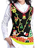 Product review for V28 Christmas Sweater Vest, Ugly Women Vintage Cute Red Santa Knit Xmas Sweater