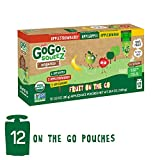 GoGo SqueeZ Organic Applesauce on The Go, Variety Pack (Apple/Banana/Strawberry), 3.2 Oz (12 Pouches), Gluten Free, Vegan Friendly, Healthy Snacks, Unsweetened, Recloseable, BPA Free Pouches