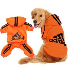 Scheppend-Original-Adidog-Big-Dog-Large-Clothes-Sport-Hoodies-Sweatshirt-Pet-Winter-Coat-Retriever-Outfits-Orange-XXXX-Large
