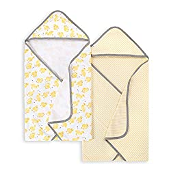 """Burt's Bees Baby - hooded towels, set of 2 - These little ducky bath towels """"make bathtime so much fun!"""" Wrap them up in 100% organic cotton absorbency that will make snuggle time extra warm and cozy."""