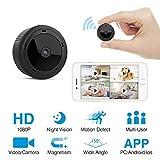 Mini Spy Camera HeysTop WiFi Hidden Camera Spy Cam Remote Small Wireless Camera HD 1080P Home Security Surveillance Cameras Covert Tiny Nanny Cam with Night Vision and Motion Detection
