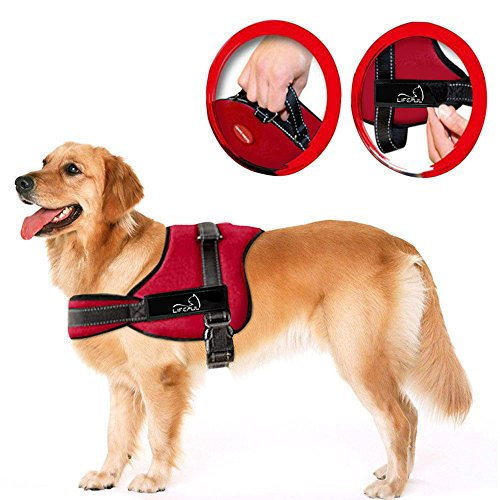 Lifepul No Pull Dog Vest Harness - Dog Body Padded Vest - Comfort Control for Large Dogs in Training Walking - No More Pulling, Tugging or Choking 1