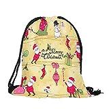HYIRI Merry Christmas Candy Satchel Bag Drawstring Storage Bag