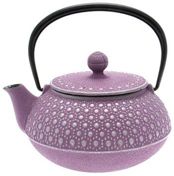 Iwachu purple japanese nambu tekki teapot, Honeycomb, Silver and Lavender