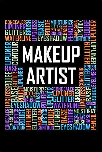 Makeup Artist Words 6x9 Ruled Notebook