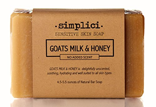 SIMPLICI Goats Milk & Honey Bar Soap (No Added Scent)