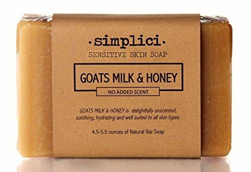 SIMPLICI Goats Milk & Honey Bar Soap (No Added Scent)