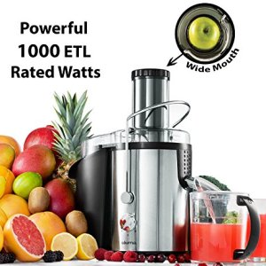 Gourmia GJ1250 Wide Mouth Fruit Centrifugal Juicer - Juice Extractor with Multiple Settings 32 oz - Stainless Steel… 3