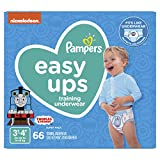 Pampers Easy Ups Pull On Disposable Potty Training Underwear for Boys, Size 5 (3T-4T), 66 Count, Super Pack