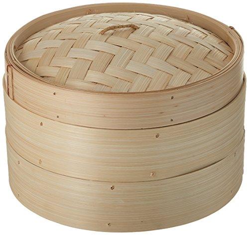 Trademark Innovations 3 Piece Bamboo Steamer