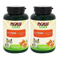 NOW-Pets-L-Lysine-for-Cats-Powder-8-oz-Pack-of-2