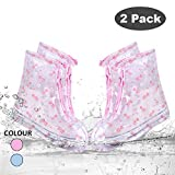 SPORUS Anti-Slippery Rain Shoes Boots Covers Cycling Reusable Waterproof Shoes Covers Overshoes Galoshes for Kids Pink(L-9.6inch)