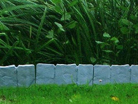 gartenzaun aus stein multistore  er set beeteinfassung gartenzaun zierzaun ca. cm  stein-optik kunststoffzaun