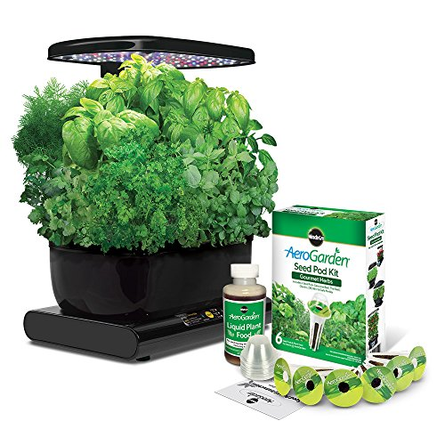 AeroGarden Harvest 2015 with Gourmet Herb Seed Pod Kit, Black