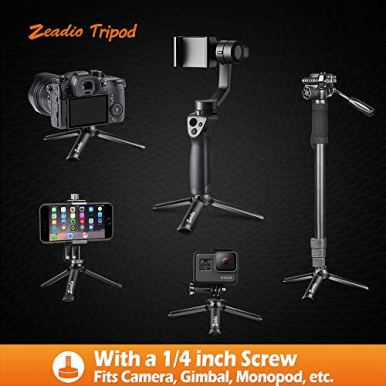 Zeadio-Metal-Mini-Tripod-Desktop-Tabletop-Stand-Compact-Tripod-for-Smooth-4-Osmo-Mobile-Vimble-2-Gimbal-Handle-Grip-Stabilizer-and-All-Cameras