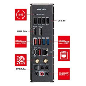 MSI-MPG-Z590-Gaming-Carbon-WiFi-Gaming-Motherboard-ATX-11th10th-Gen-Intel-Core-LGA-1200-Socket-DDR4-PCIe-4-CFX-M2-Slots-USB-32-Gen-2-Wi-Fi-6E-DPHDMI-Mystic-Light-RGB