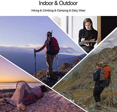 KUTOOK Women's Thermal Softshell Hiking Pants Windproof Polar Fleece Lined Cargo Pants for Winter Outdoor Sports 8