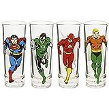 Zak Designs JUSG-S432 DC Comics Mini Glasses 2oz 4 Piece Justice League