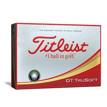 Titleist DT TruSoft Golf Balls, White (One Dozen)